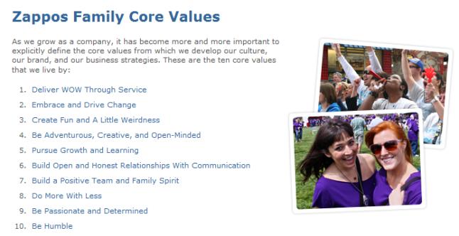 zappos-core-values